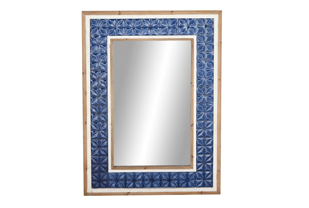Wall Mirror-Blue Tile 34X57