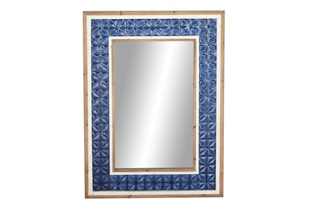Wall Mirror-Blue Tile 34X57