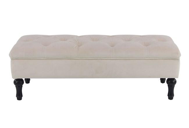 Grey Upholstered Bench  - 360