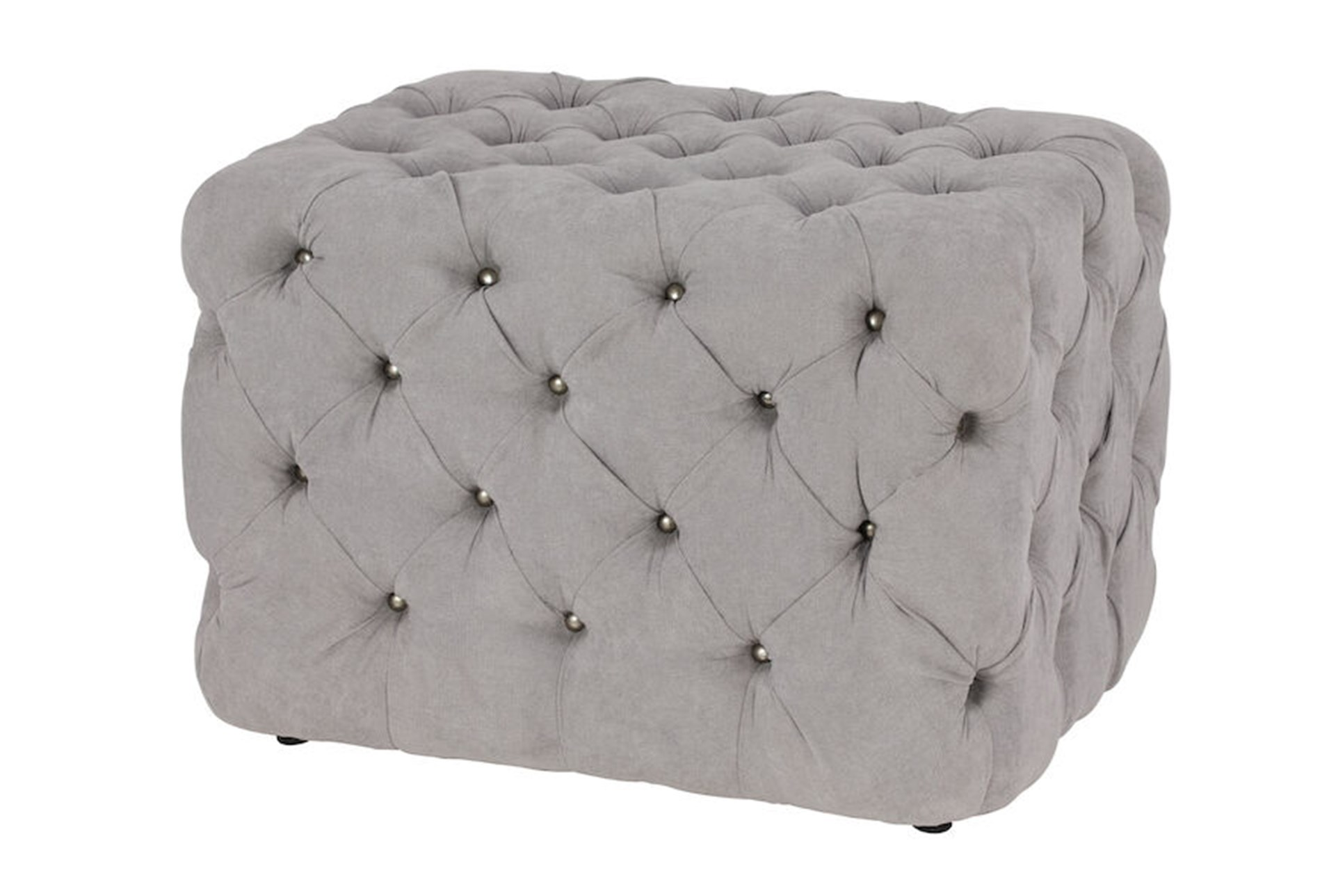 Admirable All Over Tufted Grey Square Ottoman Forskolin Free Trial Chair Design Images Forskolin Free Trialorg