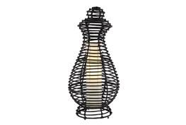 Table Lamp-Black Wicker