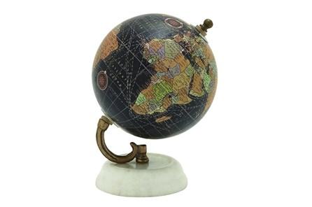 Black Marble Metal Globe