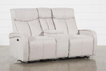 Sensational Sasha Light Grey Power Reclining Console Loveseat With Usb Ibusinesslaw Wood Chair Design Ideas Ibusinesslaworg