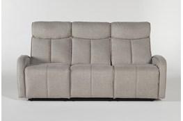 "Sasha Light Grey 80"" Power Reclining Sofa With Usb"