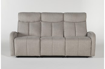 Sasha Light Grey Power Reclining Sofa With Usb