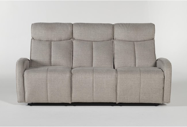 Sasha Light Grey Power Reclining Sofa With Usb - 360