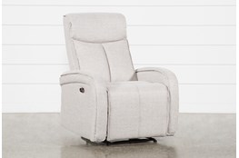 Sasha Light Grey Power Recliner With Usb