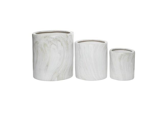Ceramic Planter Set Of 3 - 360