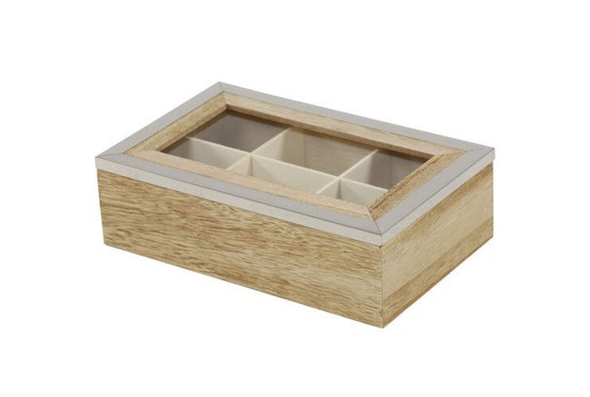 Rectangle Wood Jewelry Box  - 360