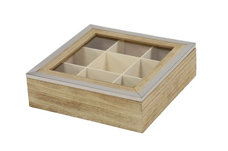 Square Wood Jewelry Box