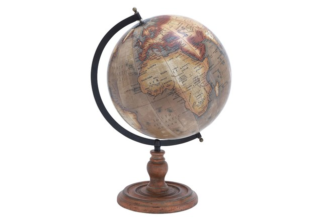 Copper Stand + Metal Globe  - 360