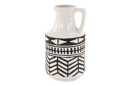 Black + White Tribal Jug