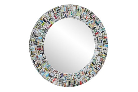 Wall Mirror-Newspaper