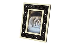 White + Black Inlay Picture Frame