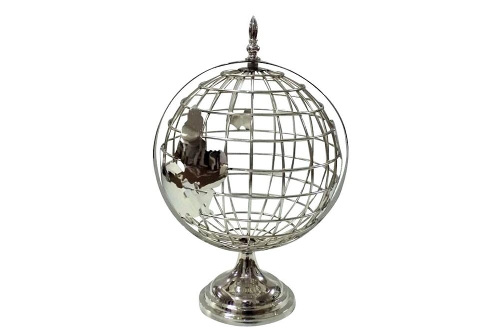 Metal Silver Globe