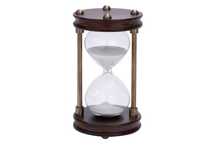 Wood Metal Glass Sand Timer