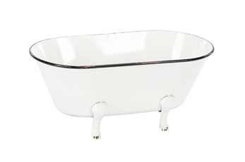 Metal Enamel Tub Flower Pot
