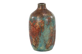 12 Inch Distressed Red Terracota Vase