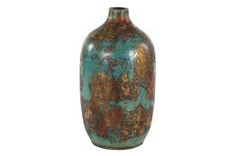 15 Inch Distressed Red Terracota Vase