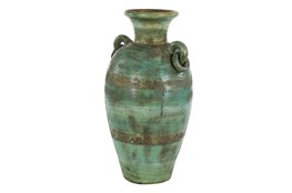 23 Inch Distressed Blue Terracota Jug