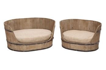 Upholstered Pet Bed Set Of 2