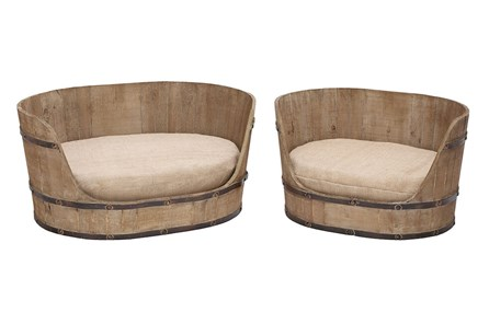 Upholstered Pet Bed Set Of 2 - Main