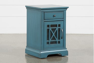 Belle Blue Chairside Table