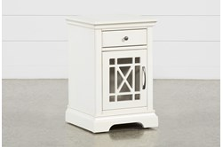 Belle White Chairside Table