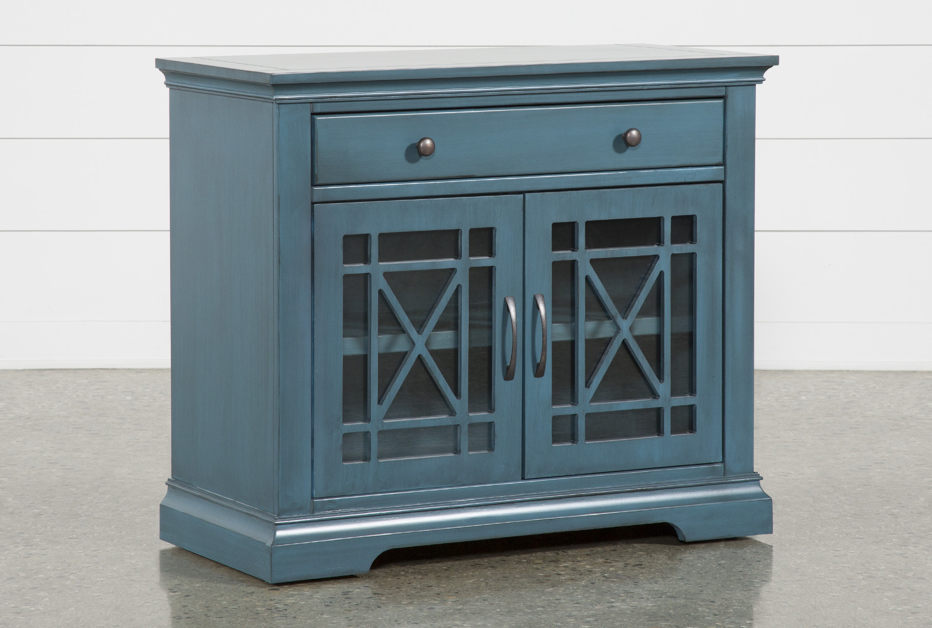 - Belle Blue Accent Chest Living Spaces
