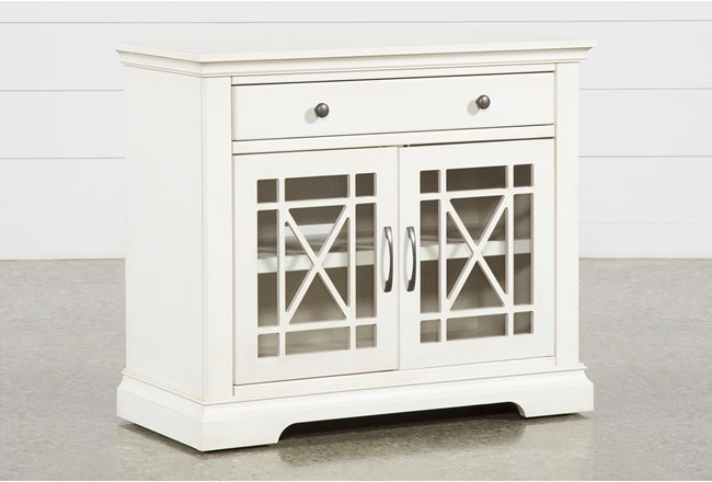 Belle White Accent Chest - 360