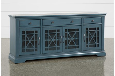 Belle Blue 70 Inch TV Stand