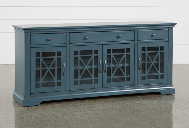 Belle Blue 70 Inch TV Stand - 360