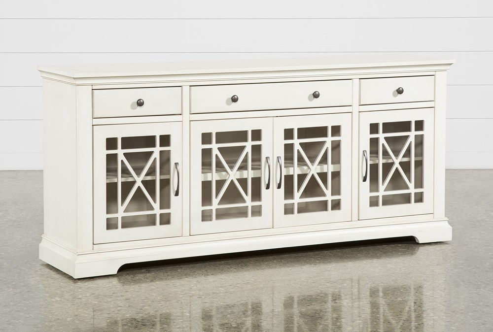 Belle Antique White 70 Inch TV Stand