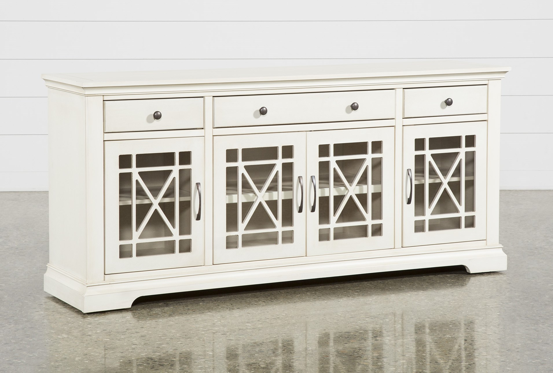 Belle White 70 Inch Tv Stand Living Spaces
