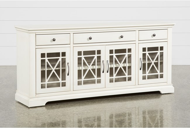 Belle White 70 Inch TV Stand - 360