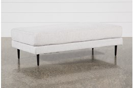 Aquarius II Light Grey Cocktail Ottoman