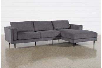 Aquarius II Dark Grey 2 Piece Sectional With Right Arm Facing Chaise