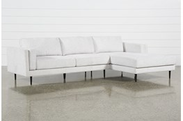 Aquarius II Light Grey 2 Pc Sectional With Right Arm Facing Chaise