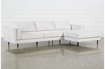 Aquarius II Light Grey 2 Piece Sectional With Right Arm Facing Chaise