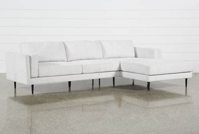 """Aquarius II Light Grey 2 Piece 120"""" Sectional With Right Arm Facing Chaise - 360"""