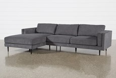 Aquarius II Dark Grey 2 Pc Sectional With Left Arm Facing Chaise