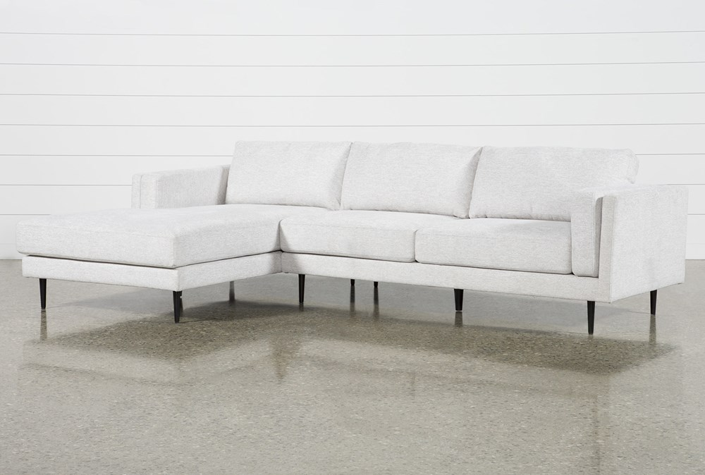 "Aquarius II Light Grey 2 Piece 120"" Sectional With Left Arm Facing Chaise"