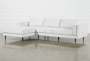 """Aquarius II Light Grey 2 Piece 120"""" Sectional With Left Arm Facing Chaise"""