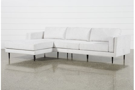 Aquarius II Light Grey 2 Pc Sectional With Left Arm Facing Chaise