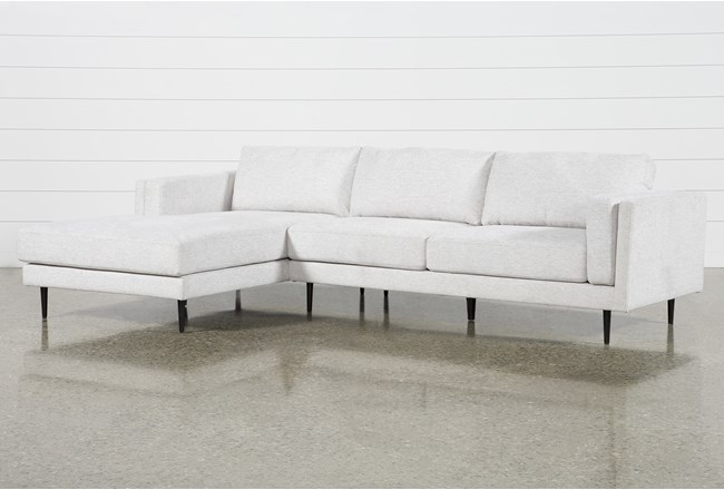 "Aquarius II Light Grey 2 Piece 120"" Sectional With Left Arm Facing Chaise - 360"