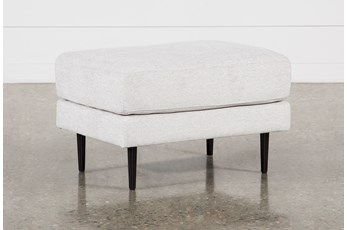 Aquarius II Light Grey Ottoman