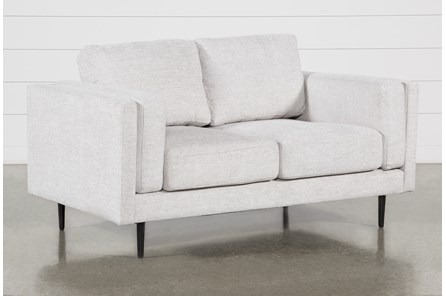 Aquarius II Light Grey Loveseat