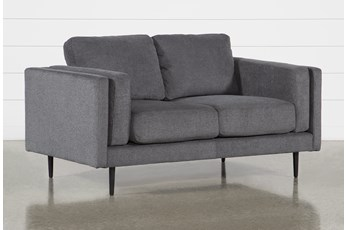 Aquarius II Dark Grey Loveseat
