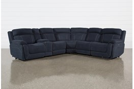 "Levi 6 Piece Power Layflat 127"" Sectional With Power Headrest & Usb"