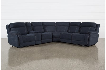 Levi 6 Piece Power Layflat Sectional With Power Headrest & Usb